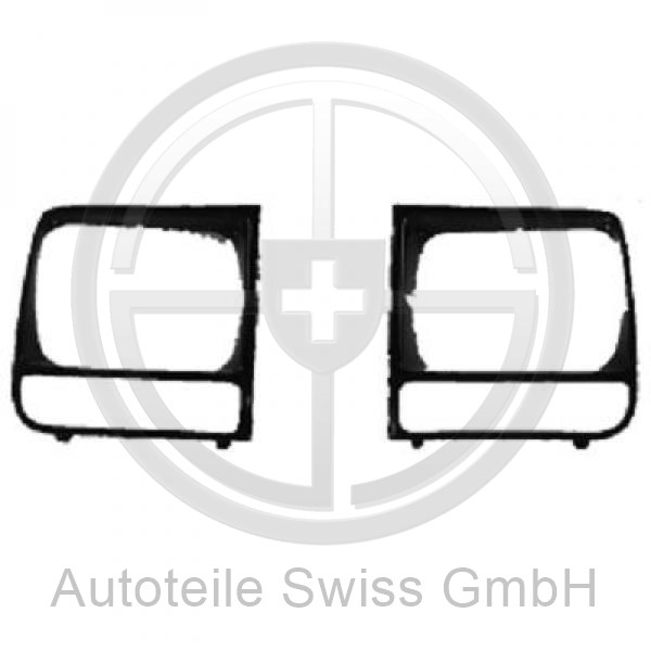 SCHEINWERFER GRILL LINKS , Jeep, Cherokee 97-01