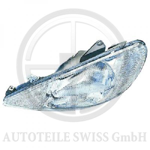 SCHEINWERFER RECHTS , Peugeot, 206 / 206 CC 98-08
