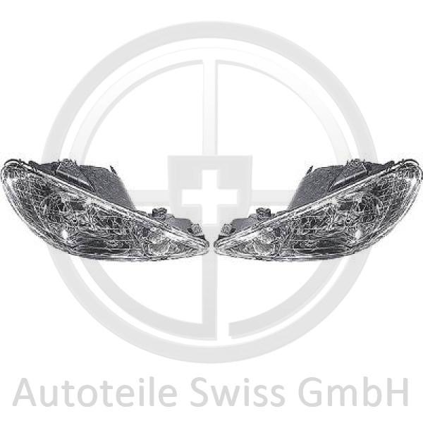 SCHEINWERFER SET , Peugeot, 206 / 206 CC 98-08