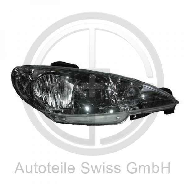 SCHEINWERFER LINKS , Peugeot, 206 / 206 CC 98-08