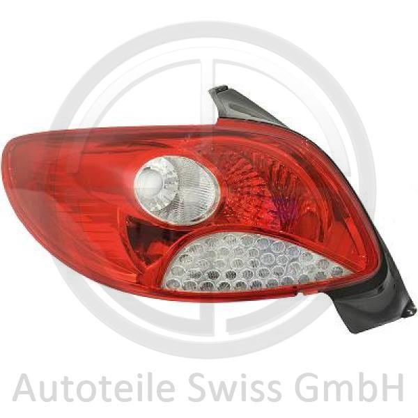 RÜCKLEUCHTE RECHTS , Peugeot, 206 + Plus 09->>
