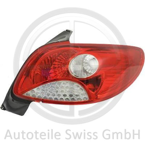 RÜCKLEUCHTE LINKS , Peugeot, 206 + Plus 09->>