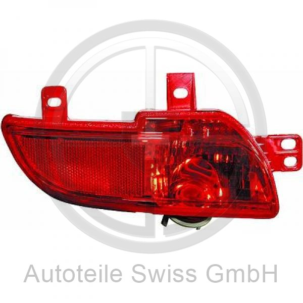NEBELSCHLUßLEUCHTE RECHTS, , Peugeot, 206 + Plus 09->>