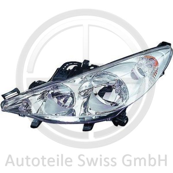 SCHEINWERFER LINKS , Peugeot, 207 09-12