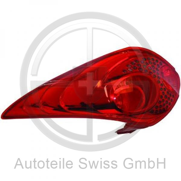 RÜCKLEUCHTE RECHTS , Peugeot, 207 09-12