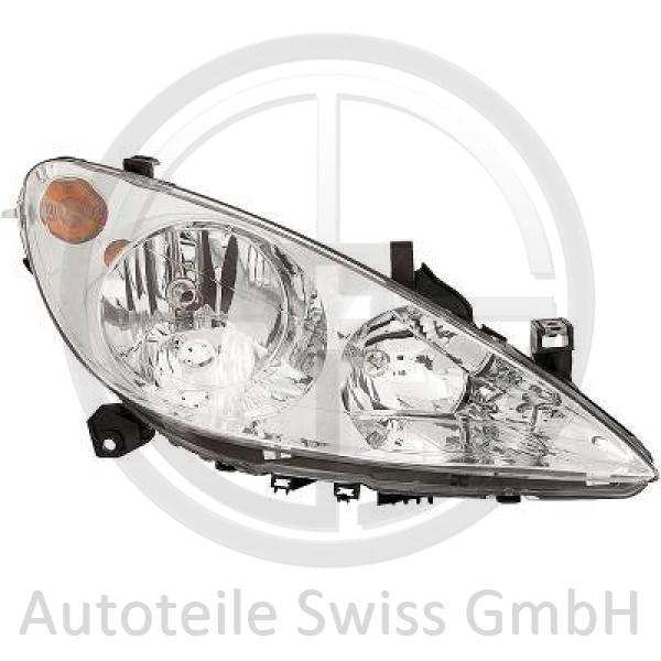 SCHEINWERFER RECHTS , Peugeot, 307 Lim. / SW / Break 01-05