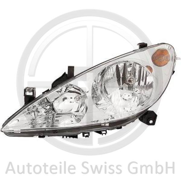 SCHEINWERFER LINKS , Peugeot, 307 Lim. / SW / Break 01-05