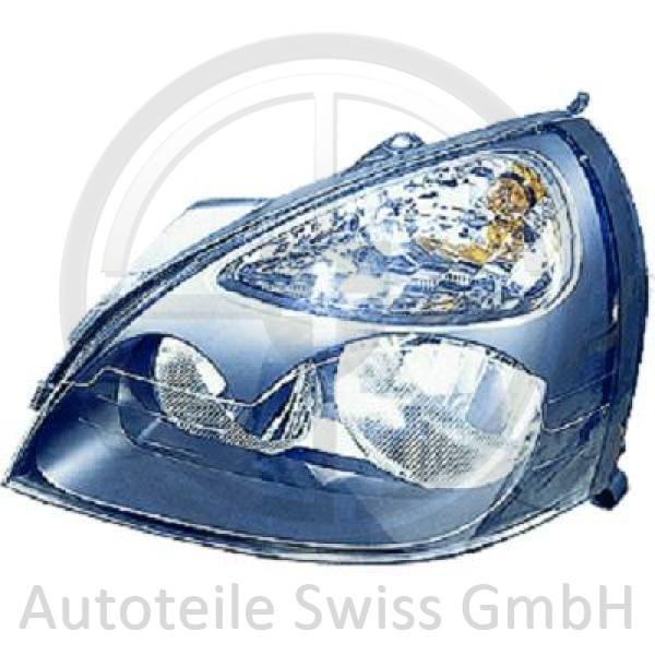 SCHEINWERFER RECHTS , Renault, Clio 01-05