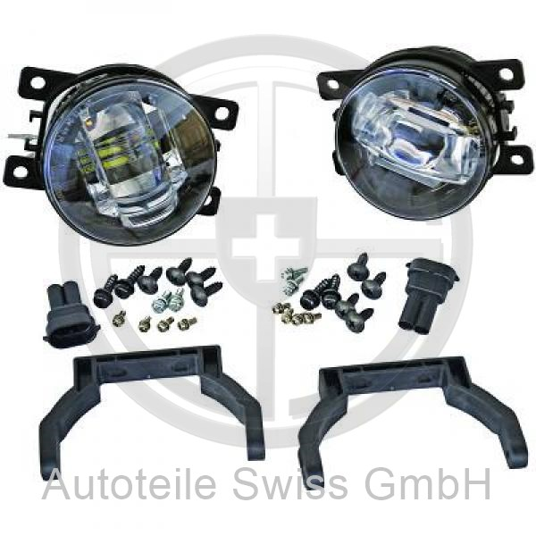 LED NEBELLAMPEN SET , Peugeot, 307 Lim. / SW / Break 05-07