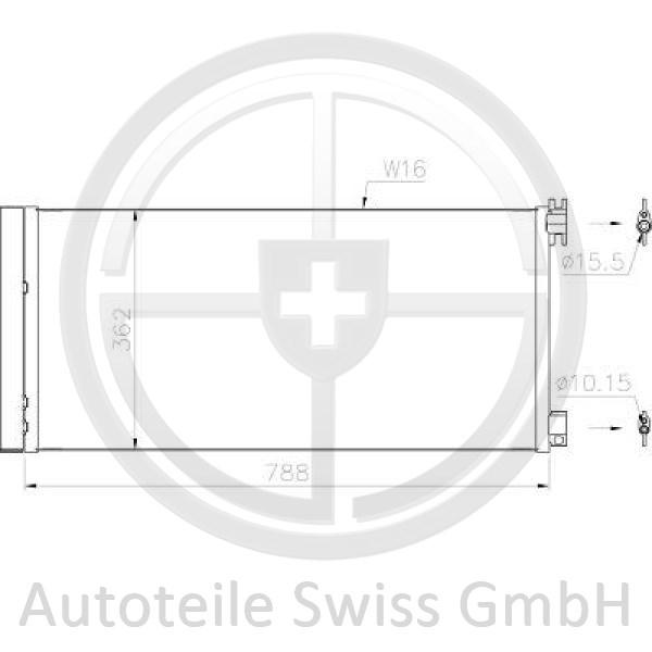 KONDENSATOR, Renault, Trafic III 14->>