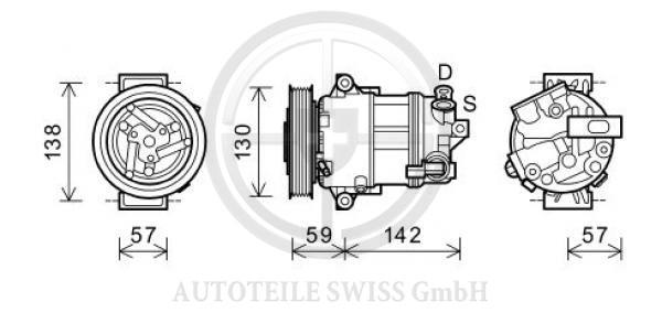 KLIMA KOMPRESSOR, , Audi, A4 Lim/Avant(8D2) 99-00