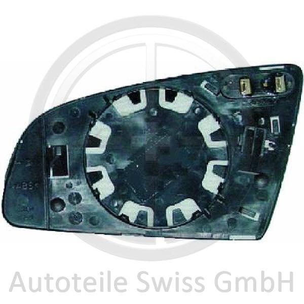 SPIEGELGLAS RECHTS , Audi, A6 (Typ 4F2/4F5) 04-08