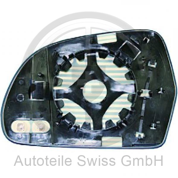 SPIEGELGLAS RECHTS , Audi, A6 (Typ 4F2) 08-10
