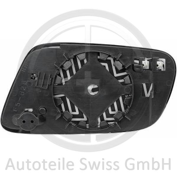 SPIEGELGLAS RECHTS , Audi, A3 00-03