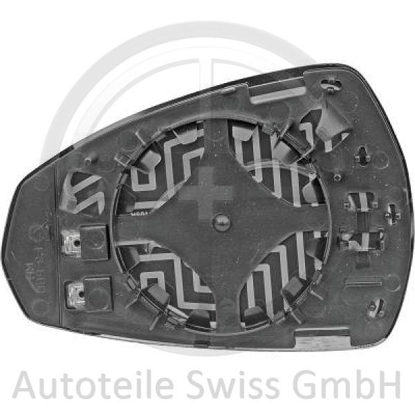 SPIEGELGLAS RECHTS, Audi, A3 Lim./Sportback (Typ8V) 12-16