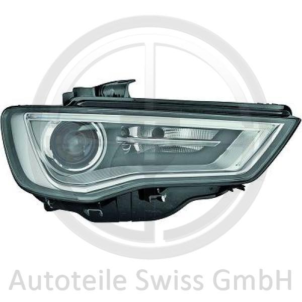 BI XENON SCHEINWERFER RECHTS, Audi, A3 Lim./Sportback (Typ8V) 12-16