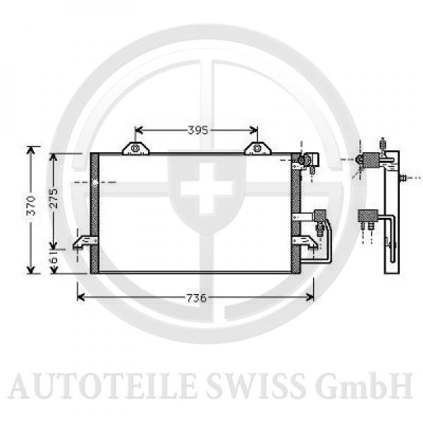 KONDENSATOR, Audi, A6 (Typ C4) 94-97