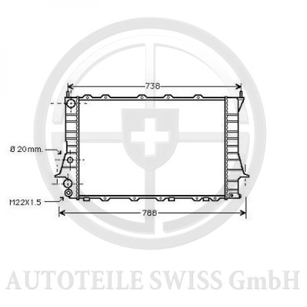 KÜHLER, Audi, 100 (C4) 90-94