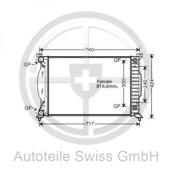 KÜHLER, Audi, A4 Cabrio 01-09